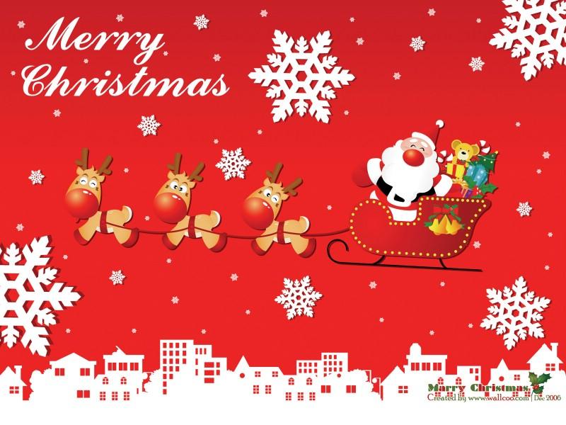 圣诞老人麋鹿简笔画图片展示_圣诞老人麋鹿简笔画图片下载
