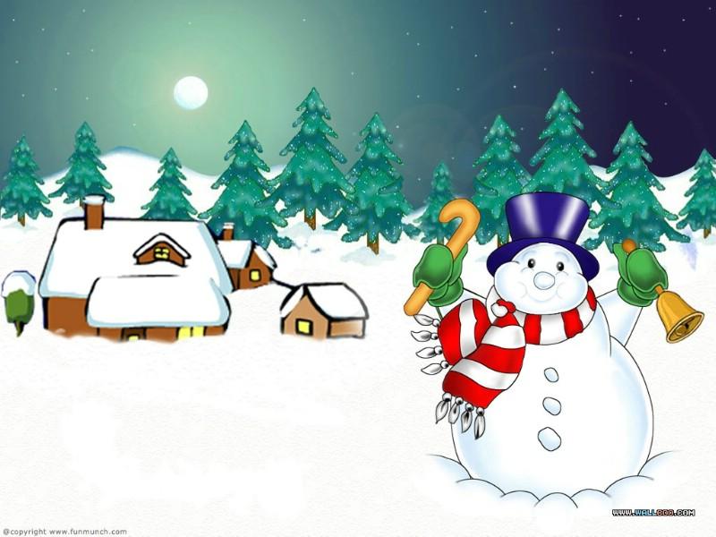 小孩堆雪人简笔画