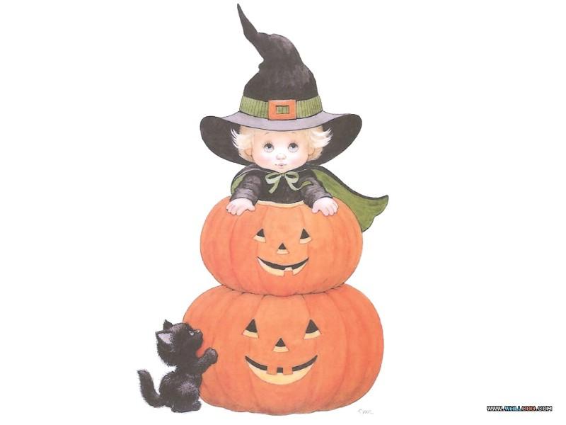可爱万圣节插画壁纸 teenie halloweenies art paintings