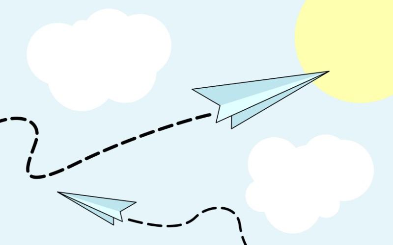 纸飞机简笔画图片大全_蒲公英怎么画简笔画