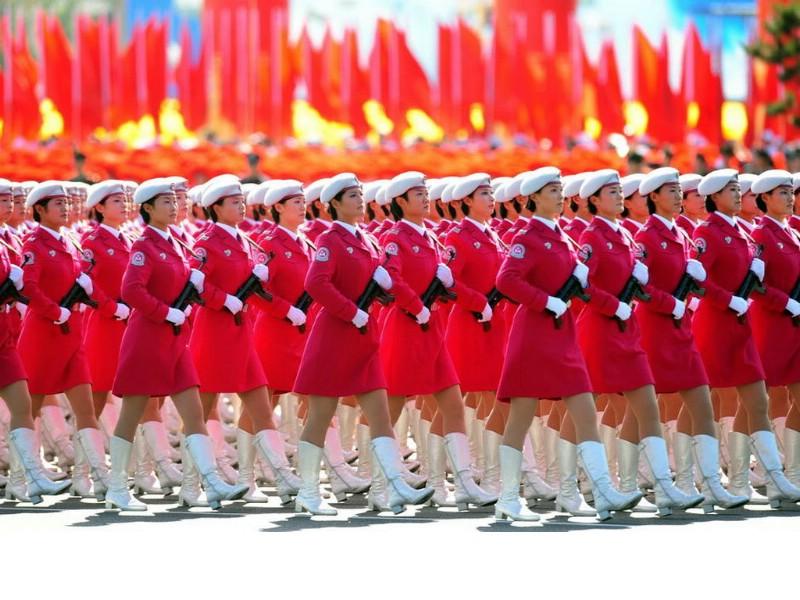 2009年国庆大阅兵女兵风姿壁纸 高清图片