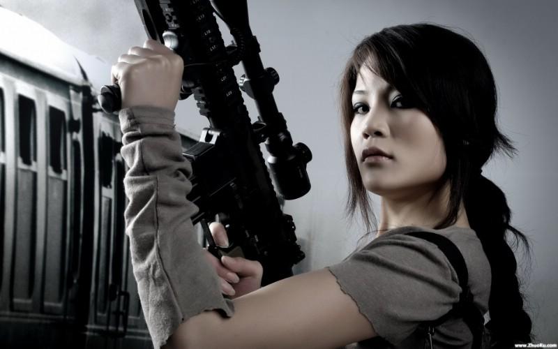 军事美女 高清酷黑壁纸 壁纸7壁纸 军事美女 高