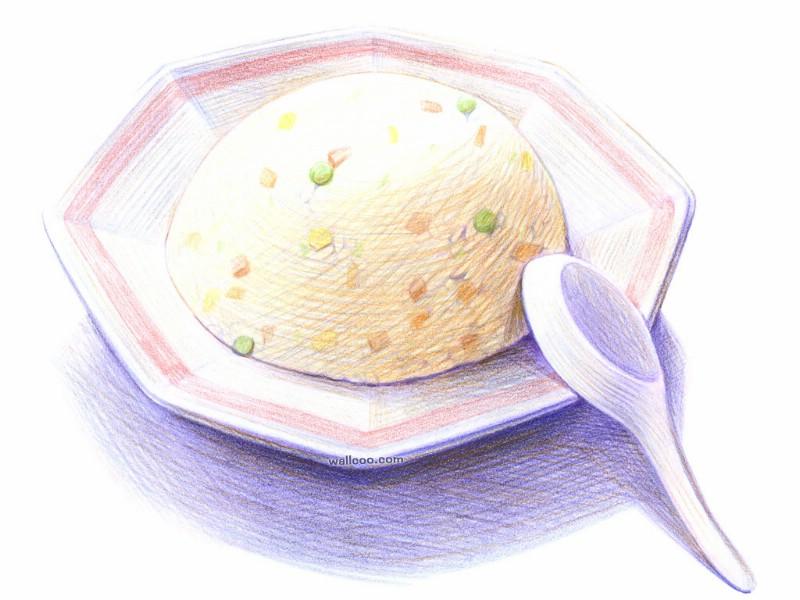 手绘美食 食物彩图插画 壁纸25壁纸,手绘美食 食物彩壁纸图片