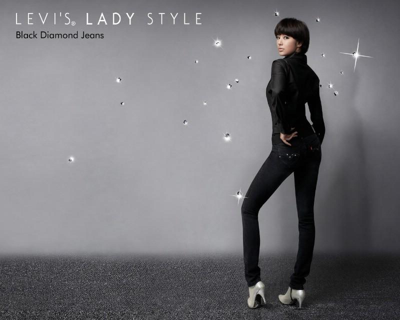 韩国levisladystyle牛仔装服饰