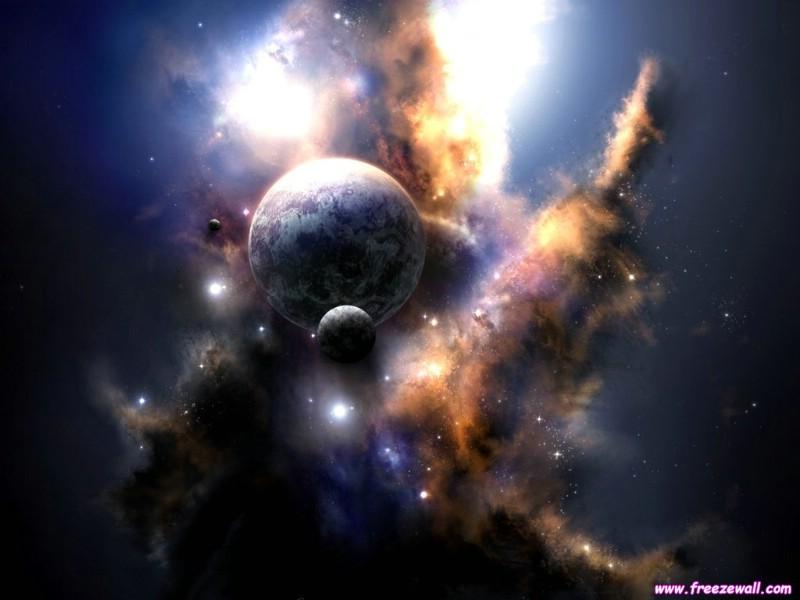 拥抱星球+深邃太空精美壁纸