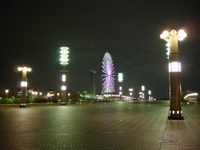 日本夜色摩天轮 Odaiba Ferris wheel 日本夜景