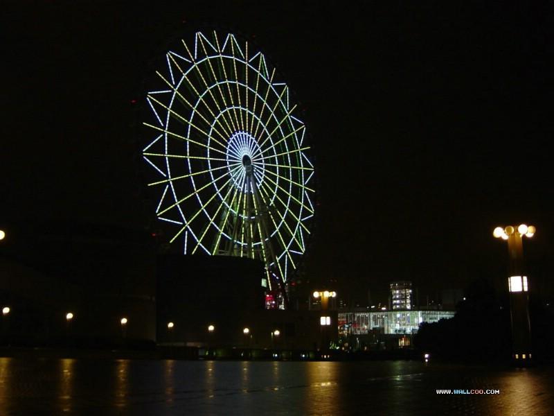 日本夜色摩天轮 Odaiba Ferris wheel 日本夜景摩天轮图片 Japan Travel Odaiba Ferris wheel Photo壁纸 日本夜景夜色摩天轮壁纸 日本夜景夜色摩天轮图片 日本夜景夜色摩天轮素材 人文壁纸 人文图库 人文图片素材桌面壁纸