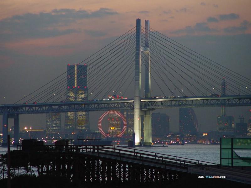 美丽东京湾彩虹大桥 夜色下的彩虹桥 Japan Travel Japan Tokyo Rainbow Bridge壁纸 夜色下的东京彩虹桥壁纸 夜色下的东京彩虹桥图片 夜色下的东京彩虹桥素材 人文壁纸 人文图库 人文图片素材桌面壁纸