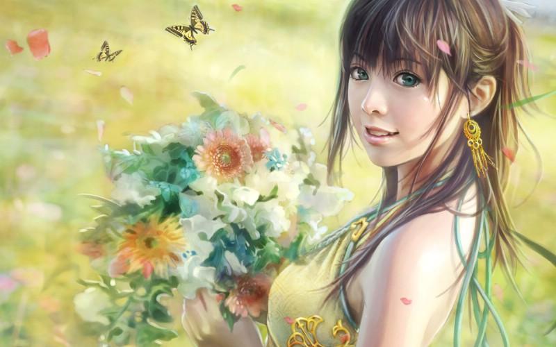 台湾I Chen Lin 美女帅哥CG插画高清宽屏壁纸