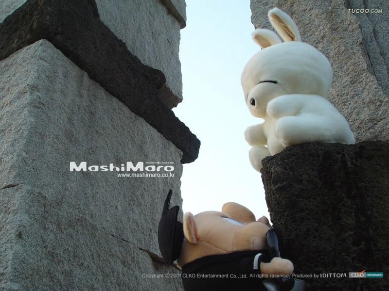 壁纸 流氓兔 可爱 中国/流氓兔毛绒娃娃 mashimaro stuffed toy Deskto