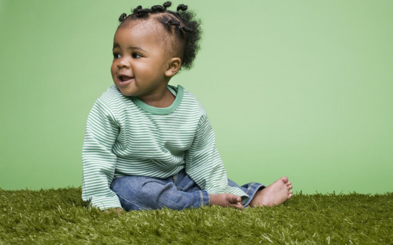 儿童摄影壁纸 黑人小可爱