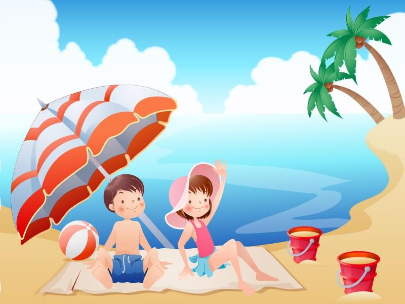 快乐暑假 2 20壁纸 快乐暑假壁纸 快乐暑假图片 快乐暑假素材 矢量壁纸 矢量图库 矢量图片素材桌面壁纸