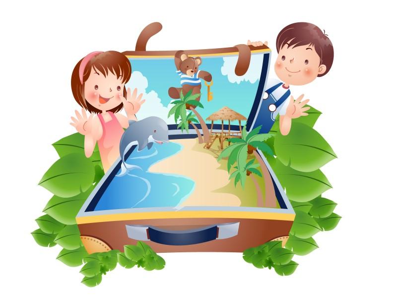 快乐暑假 2 16壁纸 快乐暑假壁纸 快乐暑假图片 快乐暑假素材 矢量壁纸 矢量图库 矢量图片素材桌面壁纸