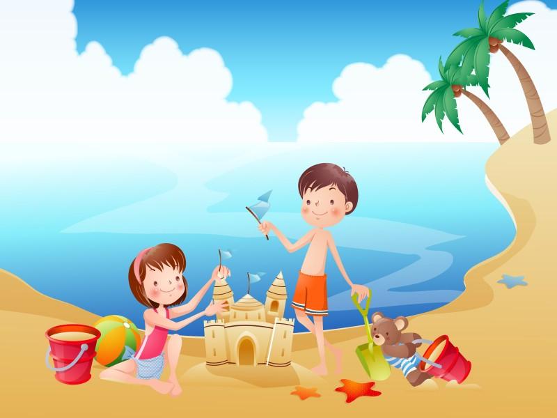 快乐暑假 2 8壁纸 快乐暑假壁纸 快乐暑假图片 快乐暑假素材 矢量壁纸 矢量图库 矢量图片素材桌面壁纸