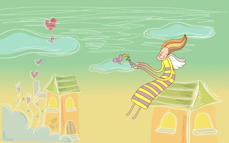 矢量卡通精灵 2 6壁纸 矢量卡通精灵壁纸 矢量卡通精灵图片 矢量卡通精灵素材 矢量壁纸 矢量图库 矢量图片素材桌面壁纸