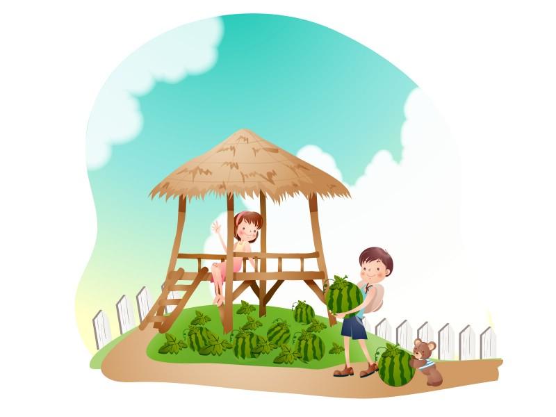 儿童暑假背景图