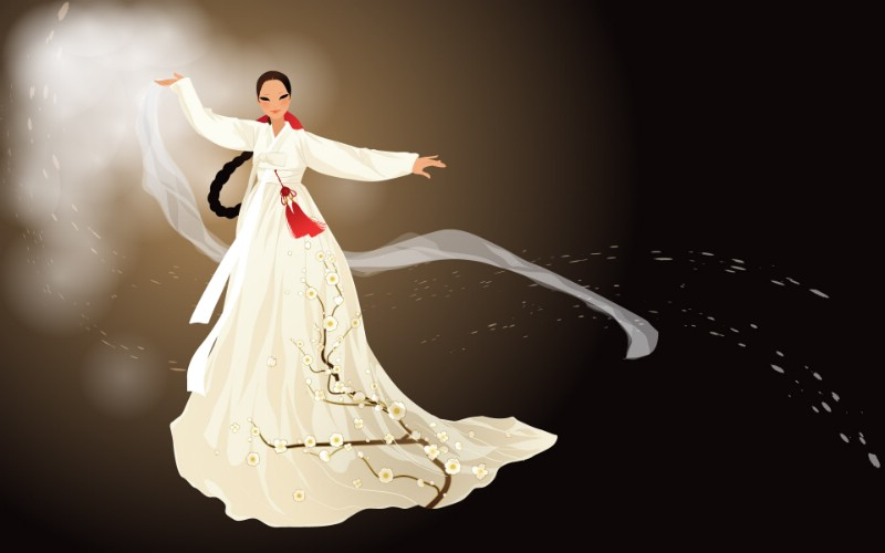 朝鲜族女性 1 19壁纸 矢量女性 朝鲜族女性 第一