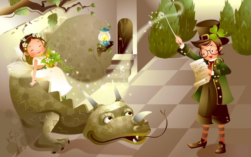 矢量童话 2 17壁纸 矢量童话壁纸 矢量童话图片 矢量童话素材 矢量壁纸 矢量图库 矢量图片素材桌面壁纸