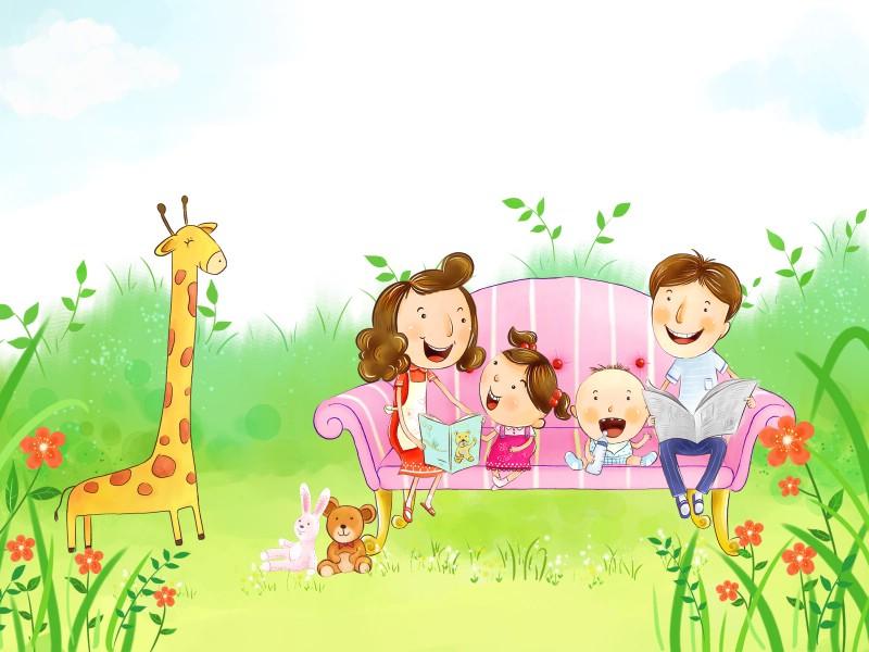 幸福家庭 2 10壁纸 幸福家庭壁纸 幸福家庭图片 幸福家庭素材 矢量壁纸 矢量图库 矢量图片素材桌面壁纸