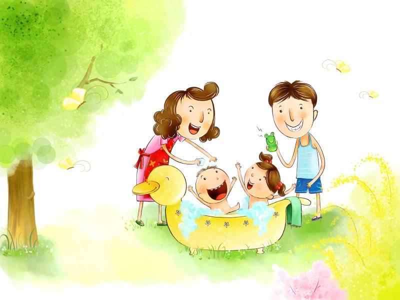 幸福家庭 2 7壁纸 幸福家庭壁纸 幸福家庭图片 幸福家庭素材 矢量壁纸 矢量图库 矢量图片素材桌面壁纸