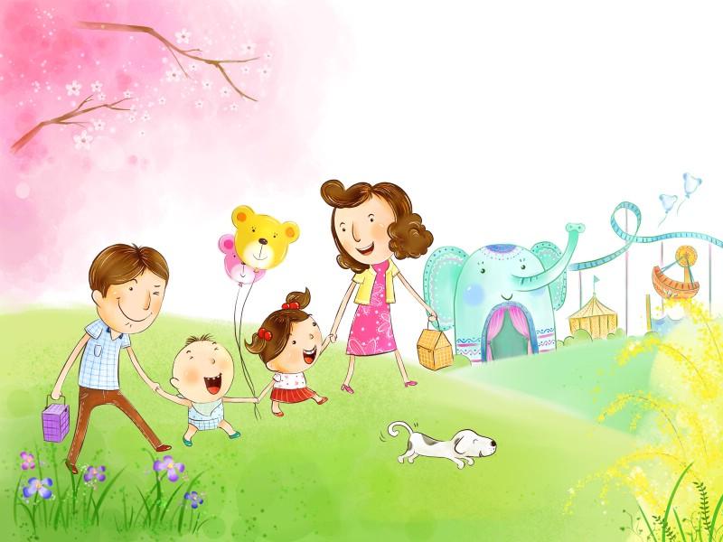 幸福家庭 2 2壁纸 幸福家庭壁纸 幸福家庭图片 幸福家庭素材 矢量壁纸 矢量图库 矢量图片素材桌面壁纸