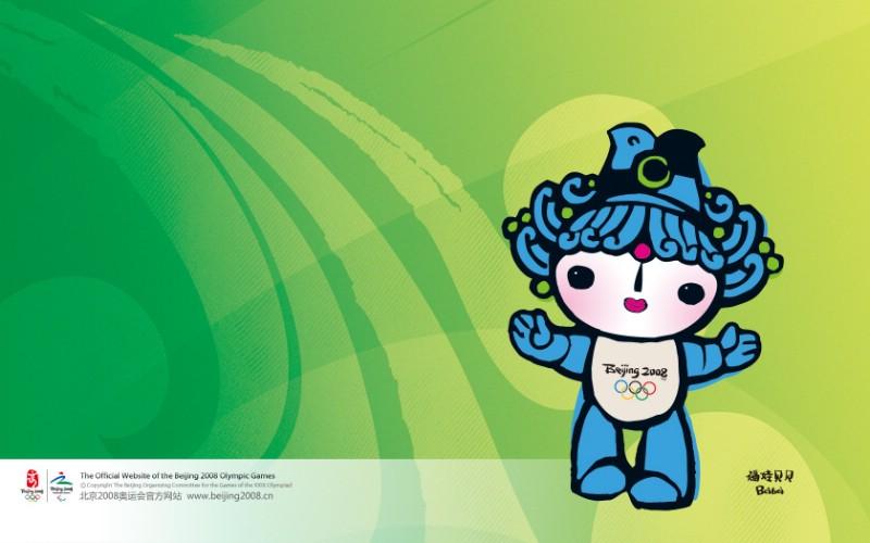 福娃贝贝图片 吉祥物福娃壁纸 Beijing Olympic mascots Fuwa Beibei图片