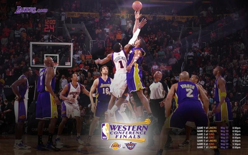 壁纸/洛杉矶湖人2010NBA季后赛和总决赛冠军壁纸WCF Schedule...