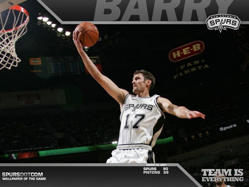 NBA壁纸 马刺队NO 17 布伦特 巴里壁纸 Brent Barry ...