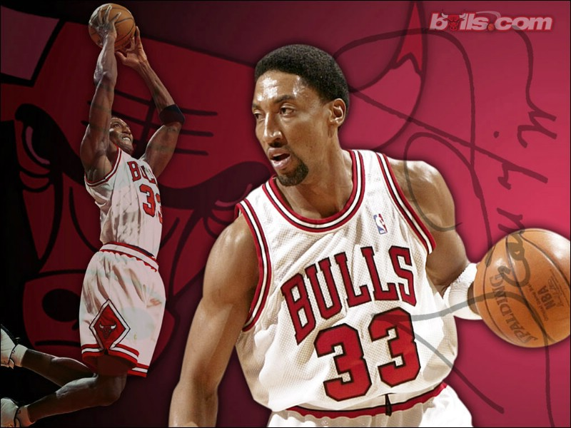 NBA壁纸 公牛队NO 33 斯科蒂 皮蓬壁纸 Scottie Pippen ...