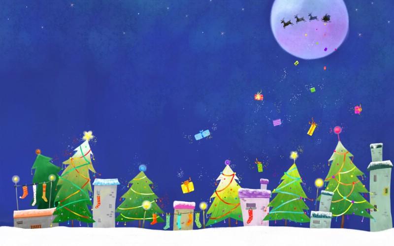 可爱温馨圣诞插画宽屏壁纸 壁纸3壁纸 可爱温馨圣诞插画宽屏壁纸 可爱温馨圣诞插画宽屏图片 可爱温馨圣诞插画宽屏素材 系统壁纸 系统图库 系统图片素材桌面壁纸