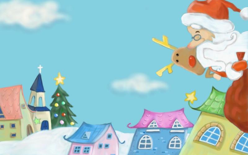 可爱温馨圣诞插画宽屏壁纸 壁纸9壁纸 可爱温馨圣诞插画宽屏壁纸 可爱温馨圣诞插画宽屏图片 可爱温馨圣诞插画宽屏素材 系统壁纸 系统图库 系统图片素材桌面壁纸