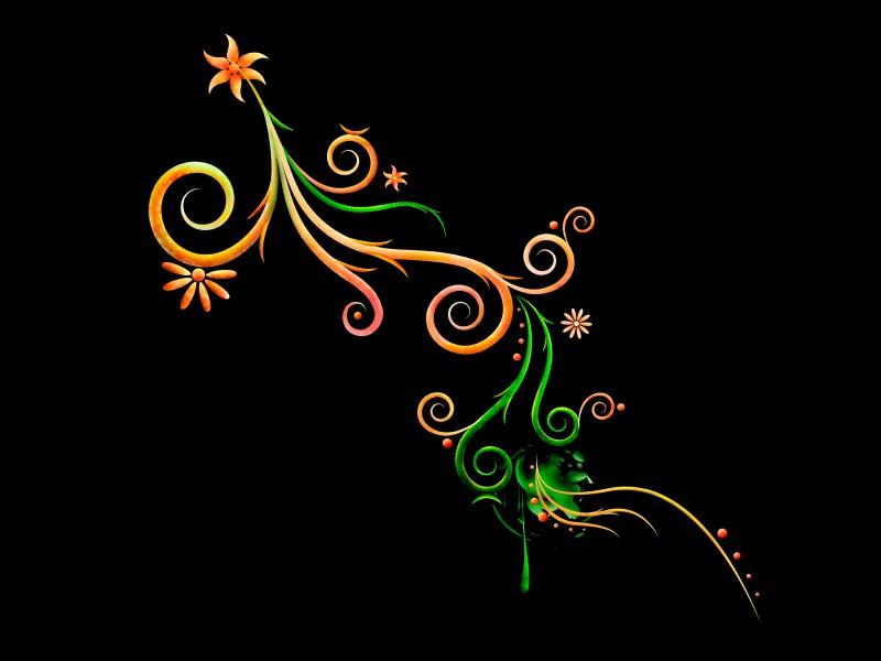 炫彩花纹几何型现代花分层彼岸花手机壁纸展示